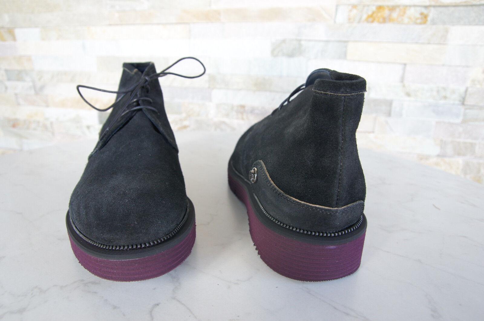 Cesare P. by 9 Paciotti Gr 43  9 by Stiefeletten Vintage Schuhe schwarz NEU 4dc713