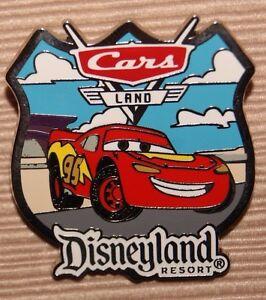 Set of 2 Walt Disney Travel Company Lightning McQueen Cars Land Lanyards Pin