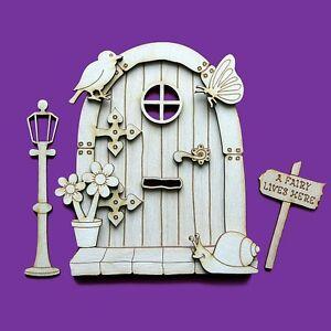 Fairy door 3d wooden sneal sparrow elf shapes pixie for Fairy door shapes