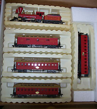 "HO  SCALE 2-4-0 ""OLD TIME"" KANSAS  CITY, ST. LOUIS & CHICAGO TRAIN SET RIVAROSSI"