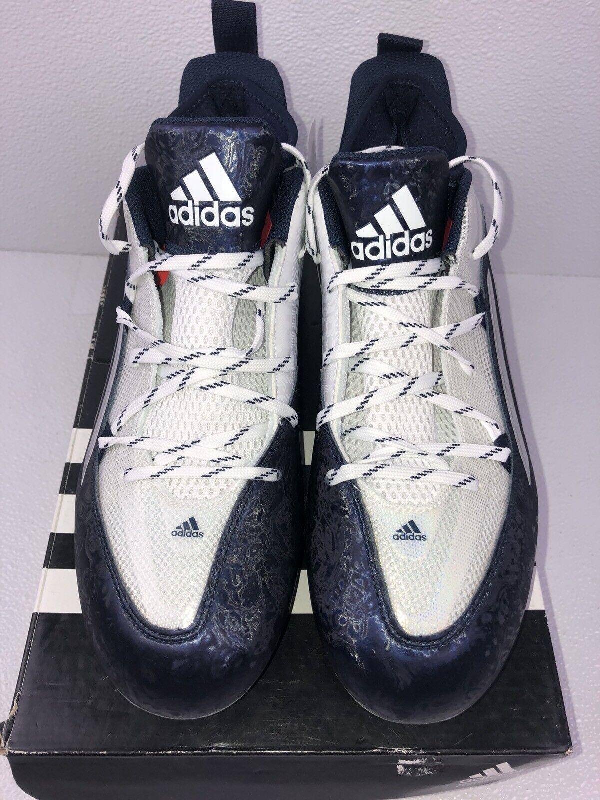 Chaussures de football NIB Adidas Crazyquick 2.0, blanc / bleu marine, taille 11,5