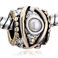 european spacer bead bracelet necklace charm pearl eye rope edge classy
