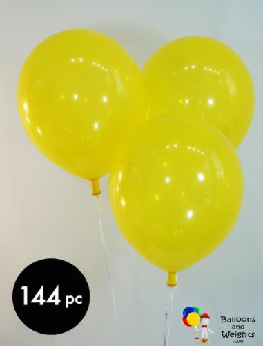 9 Inch Canary Yellow Latex BalloonsDecorator144 pc bag