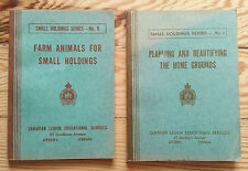Farm Animals, Landscape Planning Manuals - 1945 Small Holdings Farming, Canadian