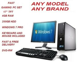 Juego-de-PC-rapido-Barato-Intel-Core-2DUO-4-GB-RAM-250-GB-HDD-17-034-TFT-Win-7-Pro-Envio-rapido