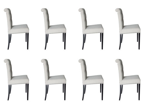 8x Chairs Chair Cushion Design Lounge Seat Sit Furniture Chair Complete Set NEW
