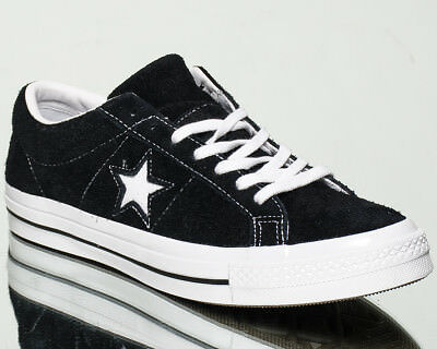 a4ce2b763d3 Converse One Star OX Premium Suede men lifestyle kicks NEW black white  158369C