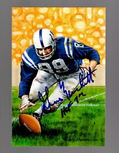 Gino-Marchetti-Signed-Autograph-4x6-Goal-Line-Art-W-HOF-72-100-Guaranteed