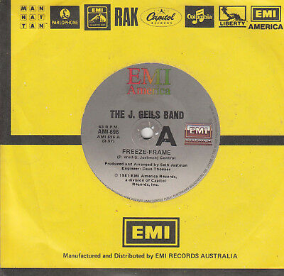 The J Geils Band Freeze Frame Flamethrower 45 Ebay