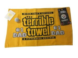 03ab95df Details about Pittsburgh Steelers Fathers Day, Terrible Towel Dad Gift Set