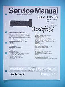 service manual manual for technics su a700 mk3 original ebay rh ebay com au sony a700 service manual sony a700 service manual
