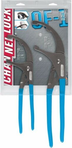 "12/"" /& 15.5/""  #OF-1 Channellock 2pc Medium /& Large Oil Filter Plier Set"