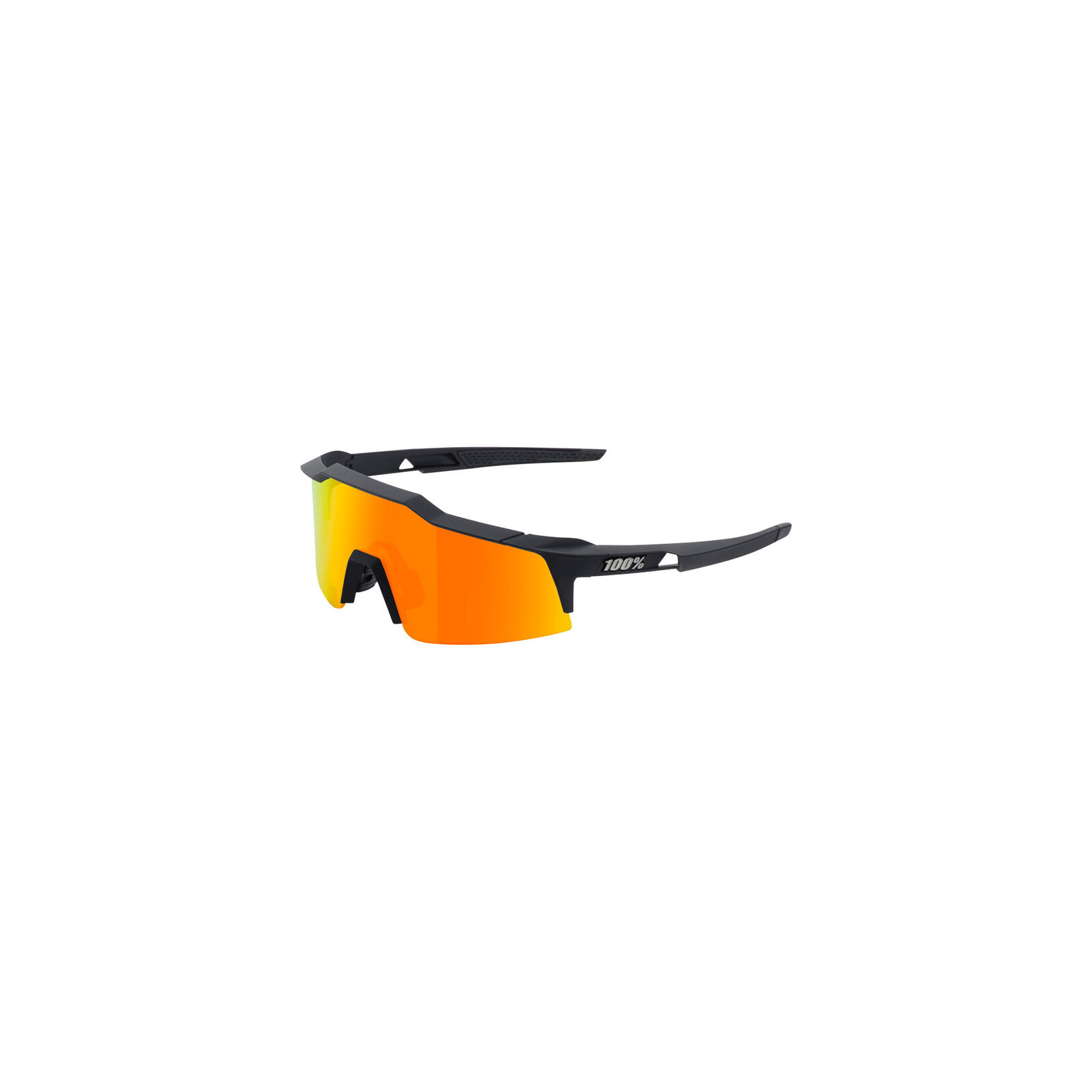 100% Speedcraft SL Gafas de Sol Negro Negro Negro Hiper Rojo Multilayer Lentes Espejados bf8152
