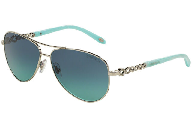 cedcbb8498f2 Authentic TIFFANY   CO. Infinity Silver Aviator Sunglass TF 3049B - 60019S  NEW