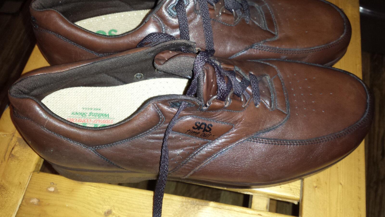 SAS Tripad Comfort Time Out Men's Brown Leather Sport Oxfords Shoes 15 M