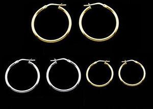 9ct Gold Plated & Sterling Silver Small, Medium & Large Hoop Earrings & Singles