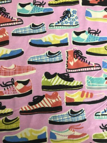 Cotton Flannel Fabric-Shoes-BTY