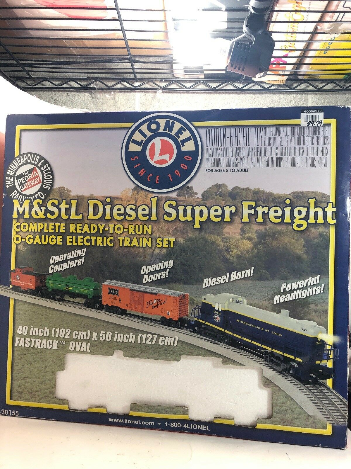 Lionel Minneapolis & St Louis Diesel Super Freight O-gauge electric train set