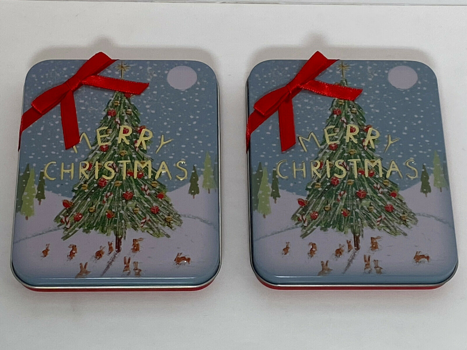 Give A Gift Merry Christmas Tin Gift Card Holder For Sale Online