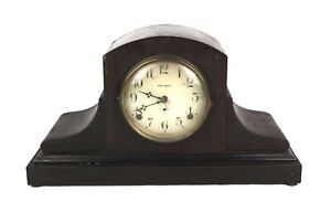 Antique Vintage Seth Thomas Wood Humpback Tambour Mantle Clock Parts Repair