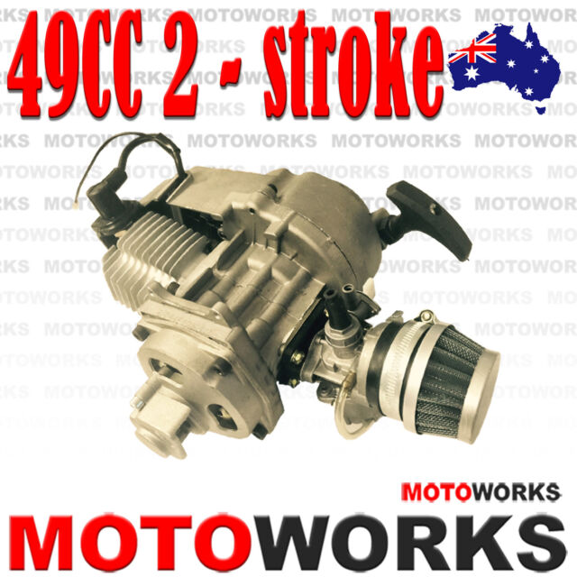 49cc 2 stroke Pull Start Engine Motor Mini Pocket PIT Quad Dirt Bike ATV 4 Wheel