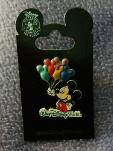 Walt-Disney-World-Mickey-Mouse-with-Balloons-3D-Disney-Trading-Pin-NEW