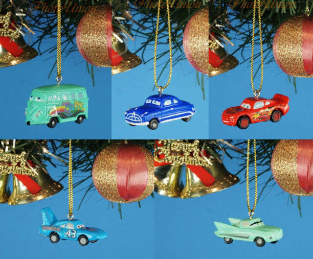 Disney Cars Christmas Decorations.Disney Cars Hudson Lightning Mcqueen Decoration Xmas Tree Ornament Decor 5pcs