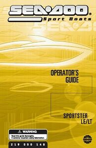 sea doo owners manual book 2003 sportster lt sportster le ebay rh ebay ie 2006 seadoo sportster owners manual seadoo speedster owners manual