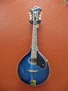 Washburn-M1SDL-A-Style-Mandolin-w-Solid-Top-Transparent-Blue-FREE-Shipping-US