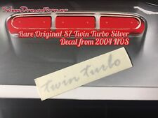 Rare Saleen S7 Twin Turbo Silver Decal Sticker Nos Ford 427 Super Car Gt Mustang