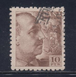 Espagne-1940-Utilise-Espagne-Edifil-934-10-Pts-Franco-Lot-5