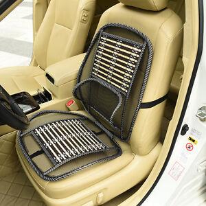 car front seat cover back support cushion covers spine massage cooling van ebay. Black Bedroom Furniture Sets. Home Design Ideas