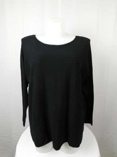 Inc International Concepts Plus Size Acrylic Knit Tunic Sweater 2x Black 6032 For Sale Online