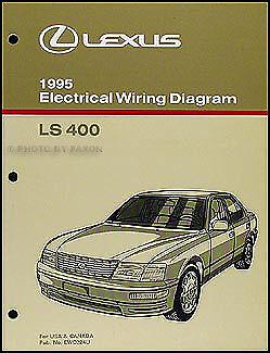 1995 Lexus LS 400 Wiring Diagram Manual Electrical Schematic Original on