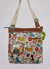 Lily Bloom Furry Friends Christy Large Crossbody Handbag Playful Cats!