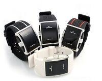 Herrenuhr LED Digital Silicon Uhr Sportuhr Armbanduhr Schwarz Weiß  Watch U1400