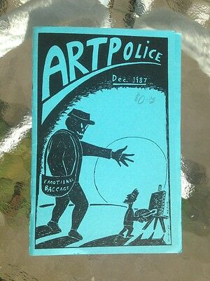Artpolice 'zine December 1987 Frank Gaard Any Baird Collectibles