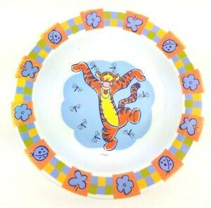 Zak-Designs-Disney-Dancing-Tigger-Firefly-8-034-Plastic-Bowl-Winnie-the-Pooh-VTG
