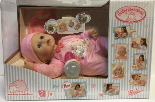 """Baby Annabell 18/"""" Baby Doll Interactive Bottle-Pacifier-Cries-Tears-Drinks NEW"""