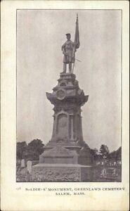 Salem-MA-Greenlawn-Cemetery-Monument-c1910-Postcard