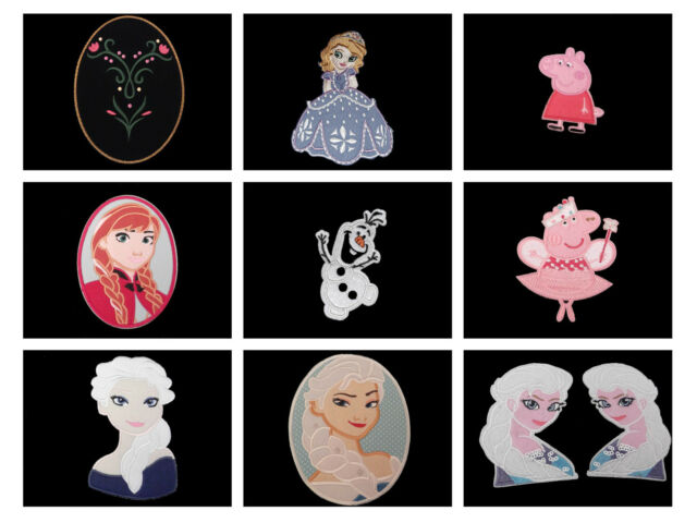 Applique Patch Small Anna Elsa Olaf Frozen Peppa Pig Sofia + lots more (List 1)