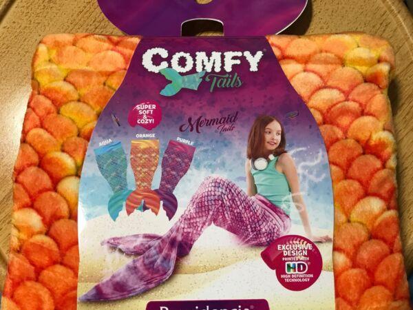 Attent New Comfy Mermaid Tails Childrens Super Soft Cozy Fleece Throw Blanket Orange Zonden En Botten Versterken