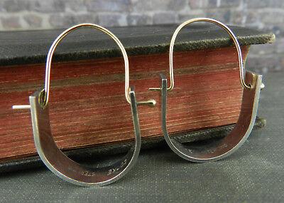 Modernist Betty Cooke Sterling Silver & 14K Yellow Gold Dangle Earrings