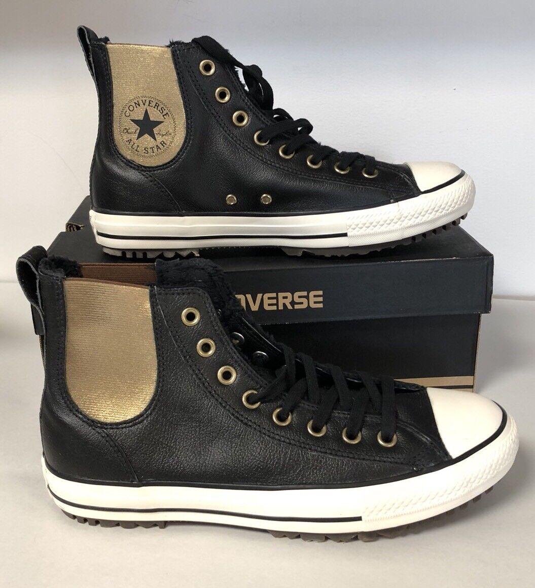 Converse Chuck Taylor All Star Leather High Tops Fur Lined  scarpe da ginnastica Dimensione 10.5