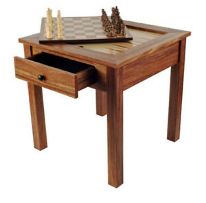 Good Image Is Loading Chess Table With Pieces Backgammon Board Furniture Wooden