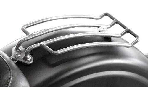Gepäckträger polierter Edelstahl Chrom Optik Yamaha Kawasaki Träger Gepäck