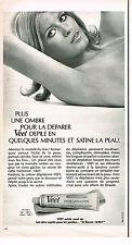 PUBLICITE ADVERTISING 064  1970  VEET   creme dépilatoire