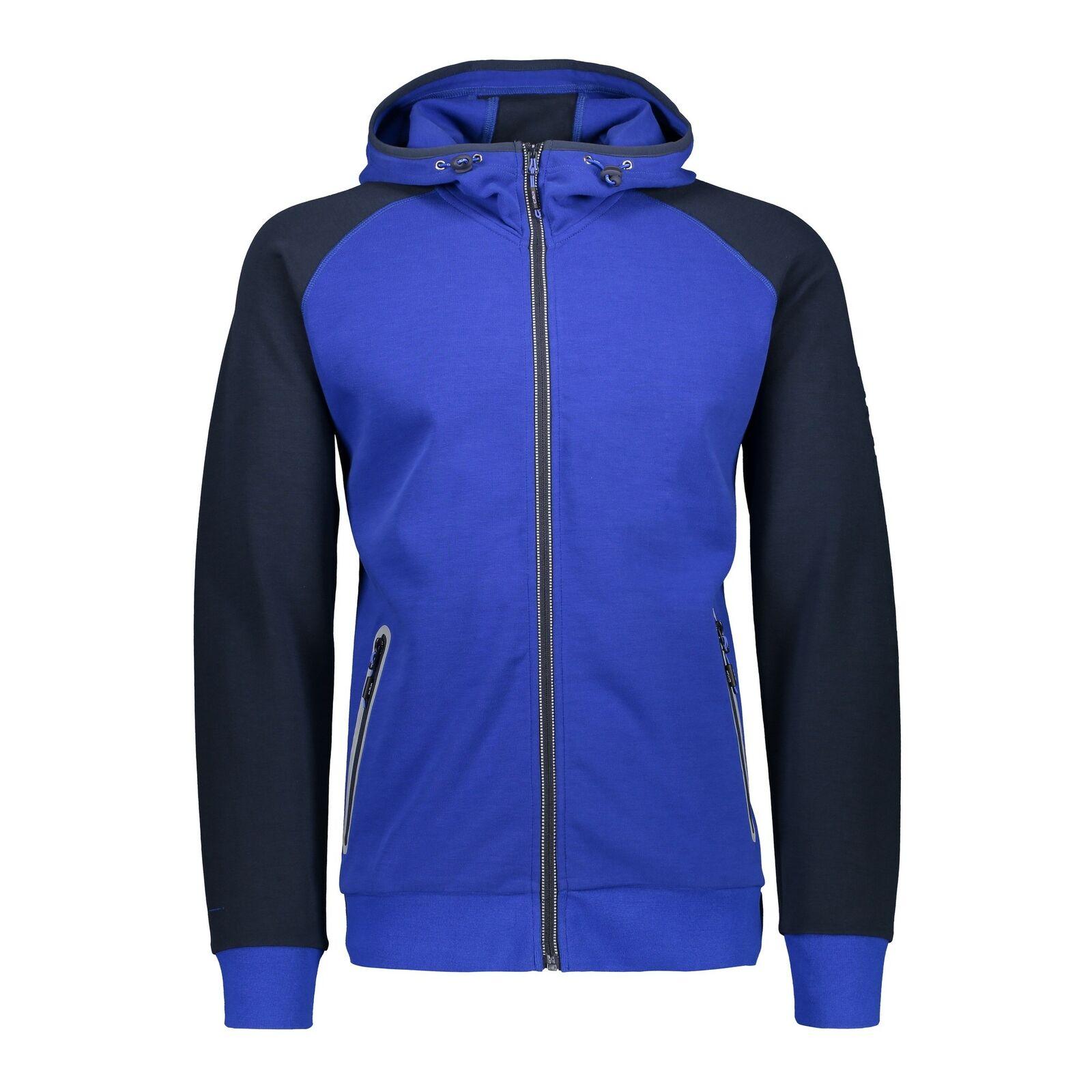 CMP Pinewood chaqueta Man fix Hood Jacket azul transpirable elástico  ahumado  barato