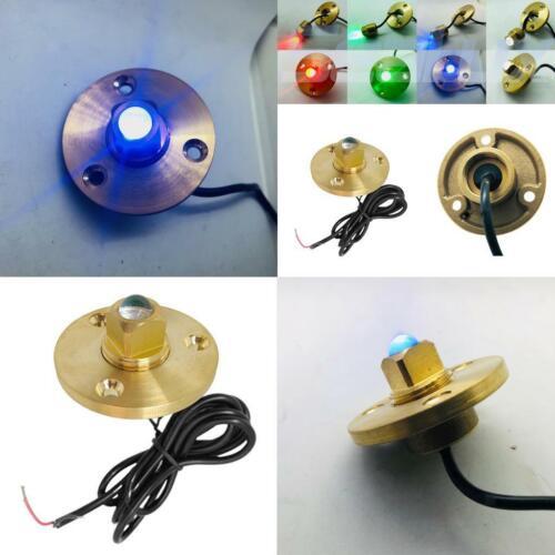 Helligkeit Marine Boot LED Ablassschraube Messing Unterwasserlicht 12V Blau