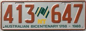 GENUINE-Australia-Northern-Territories-Bicentennial-License-Number-Plate-413-647